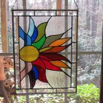 Stained Glass Window Colorful Flower